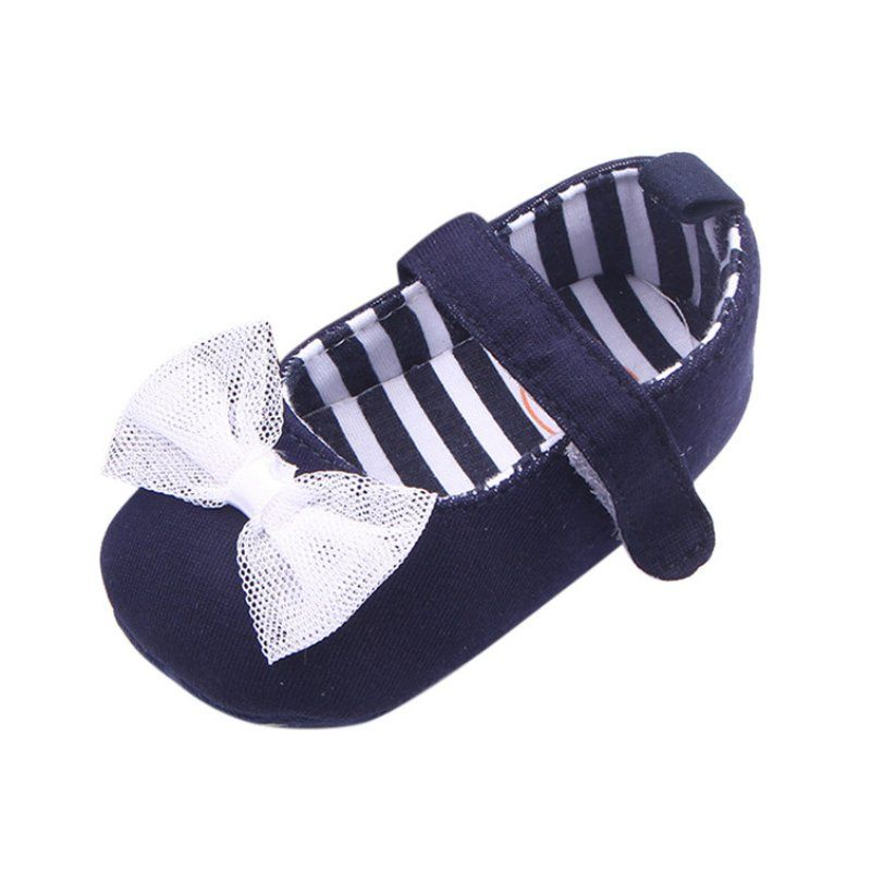 Fashion Baby Girls Soft Sole Bowknot Print Anti-slip Casual Cute Shoes Toddler
