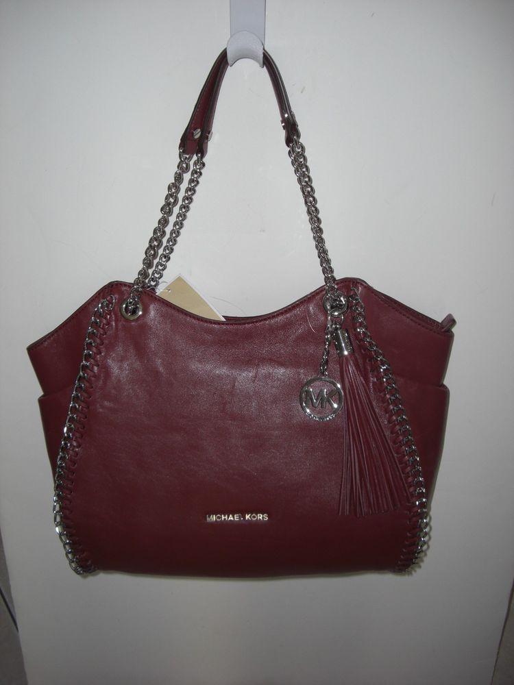 mk purse silver michael kors tote brown