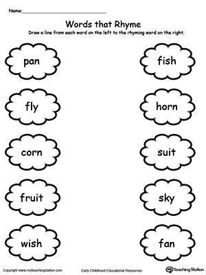 Worksheets Rhyming Words For Kindergarten words worksheet kindergarten delibertad rhyming delibertad