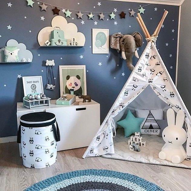 Beautiful decor details in this boys room of @madelen88. JUJUZOZO print Baby Panda is among the goodies! Get yours at www.jujuzozo.com! #jujuzozo #boysroom #kidsroomdecor #interior #coolspace #babypandas