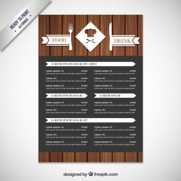 Modern-menu-in-wood-style - Freepik-Cafe - Pin-7 | Cafe