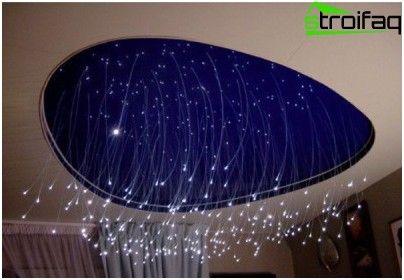 fiberoptisk belysning badrum