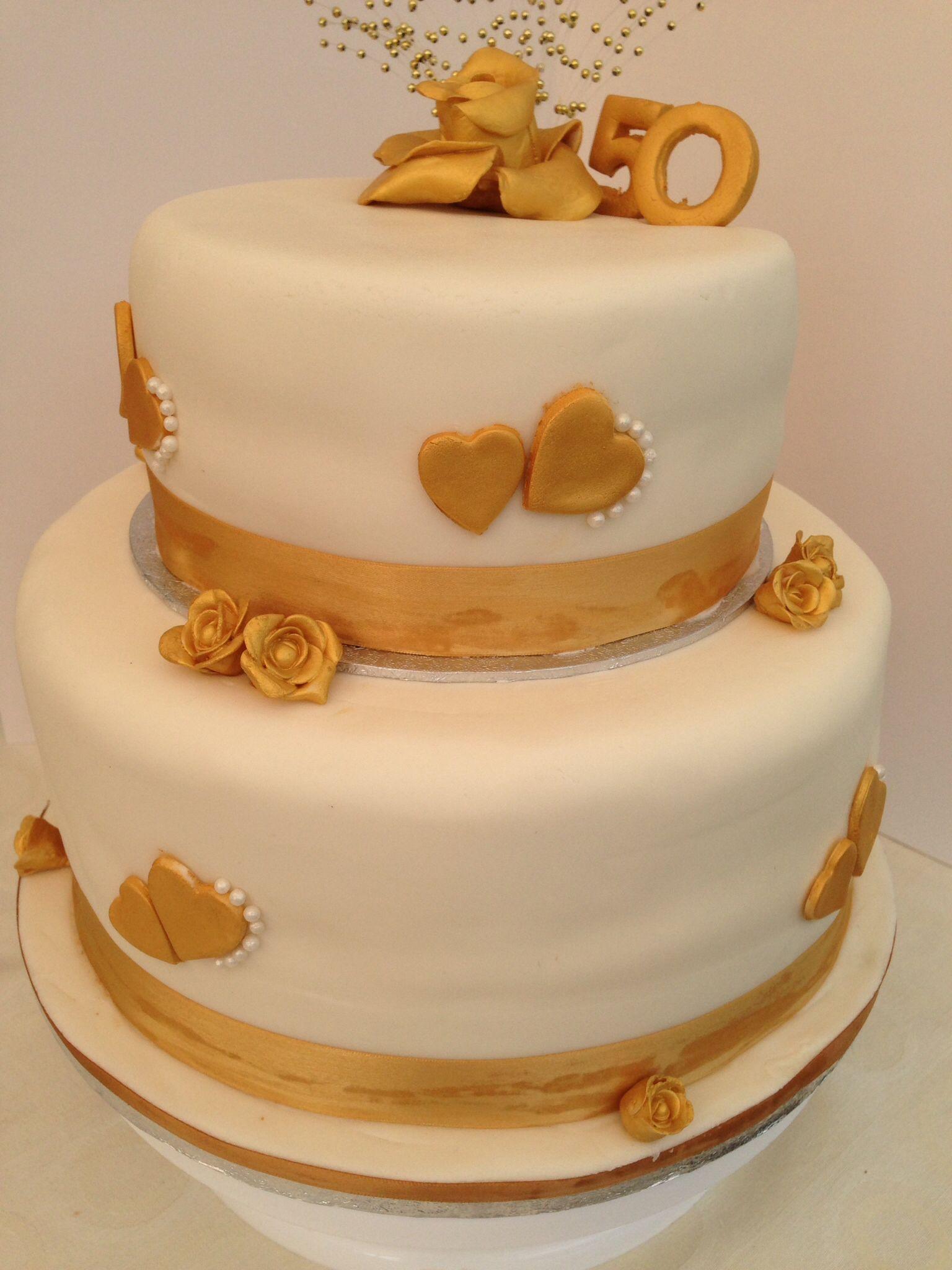 Golden Wedding Anniversary Cake Wedding Anniversary Cakes
