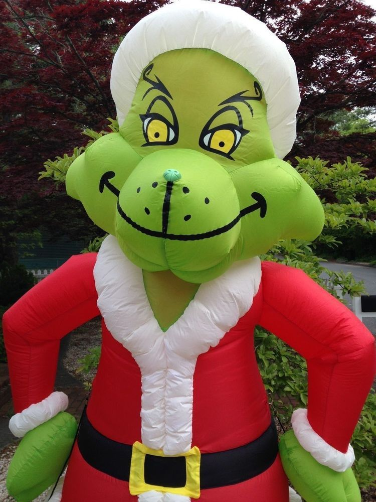 gemmy how the grinch stole christmas giant 8 ft inflatable airblown blow up - Blow Up Christmas Decorations Grinch