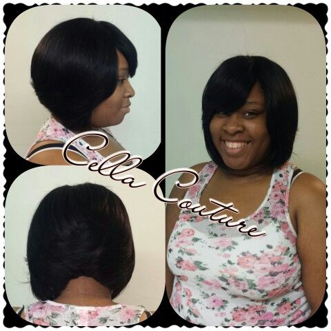Jos haven quick curly weaves milky way coil curl weave she is rocking a full quick weave bob w no hair left outhair provided was purple pack to get this look ladies get at the inbox pmusecretfo Choice Image