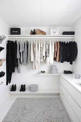 vestidor blanco abierto - Vestidor Abierto
