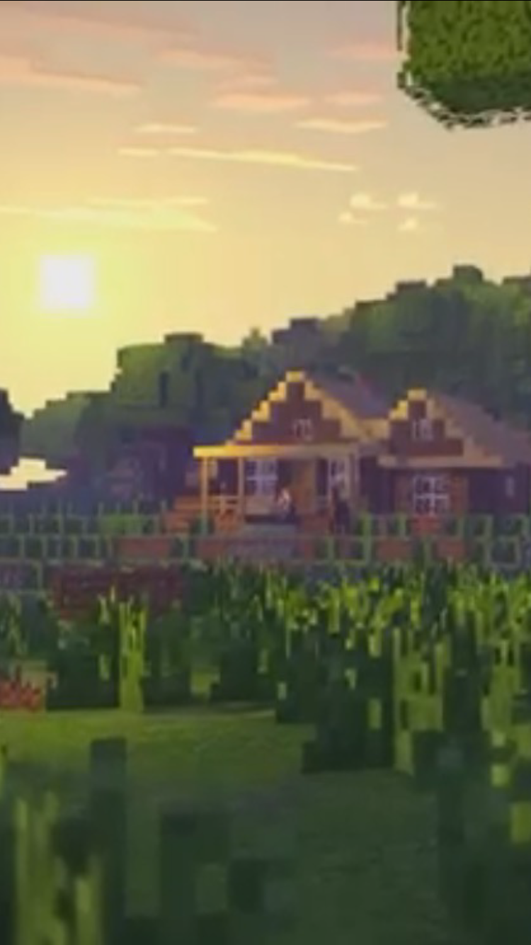 iPhone background of Lukas's house Minecraft wallpaper