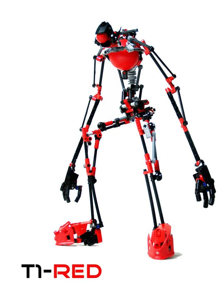 https://flic.kr/p/aPQk5i | T1-RED | my newest MOC, use lots of technic connection (use only 4 joints of balljoint) it's really hard to pose but i finnaly manages to make it stand on it's own, since it's super lumpy and all, but still i've a great time making it the name should explain the pose and proportion: