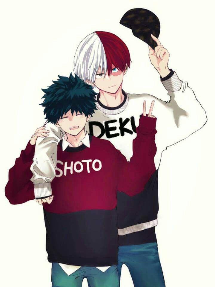 Todoroki Shouto And Midoriya Izuku Boku No Hero Academia My Hero Academia Shouto Hero My Hero Academia Manga