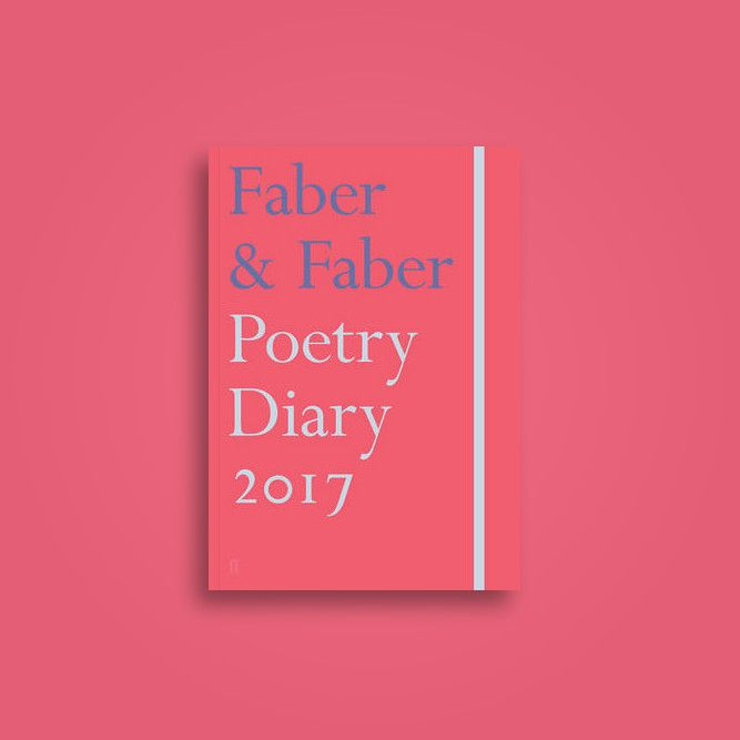 Great Bookcover Designs: Faber & Faber Poetry Diary 2017: Coral