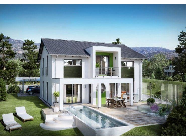 Fertighaus modern satteldach  Innovation R - Haus R140_2_V18 - #Einfamilienhaus von RENSCH-HAUS ...