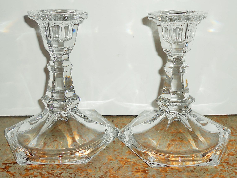 Vintage Candle Holders Clear Glass Crystal Glass Taper Candle Holders Elegant Candle St Vintage Candle Holders Taper Candle Holders Crystal Candle Holder