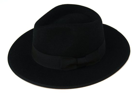66172242726 Classic Black Fedora Hat