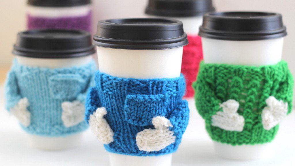 Mug Cozy Sweater Knitting Pattern | Navidad
