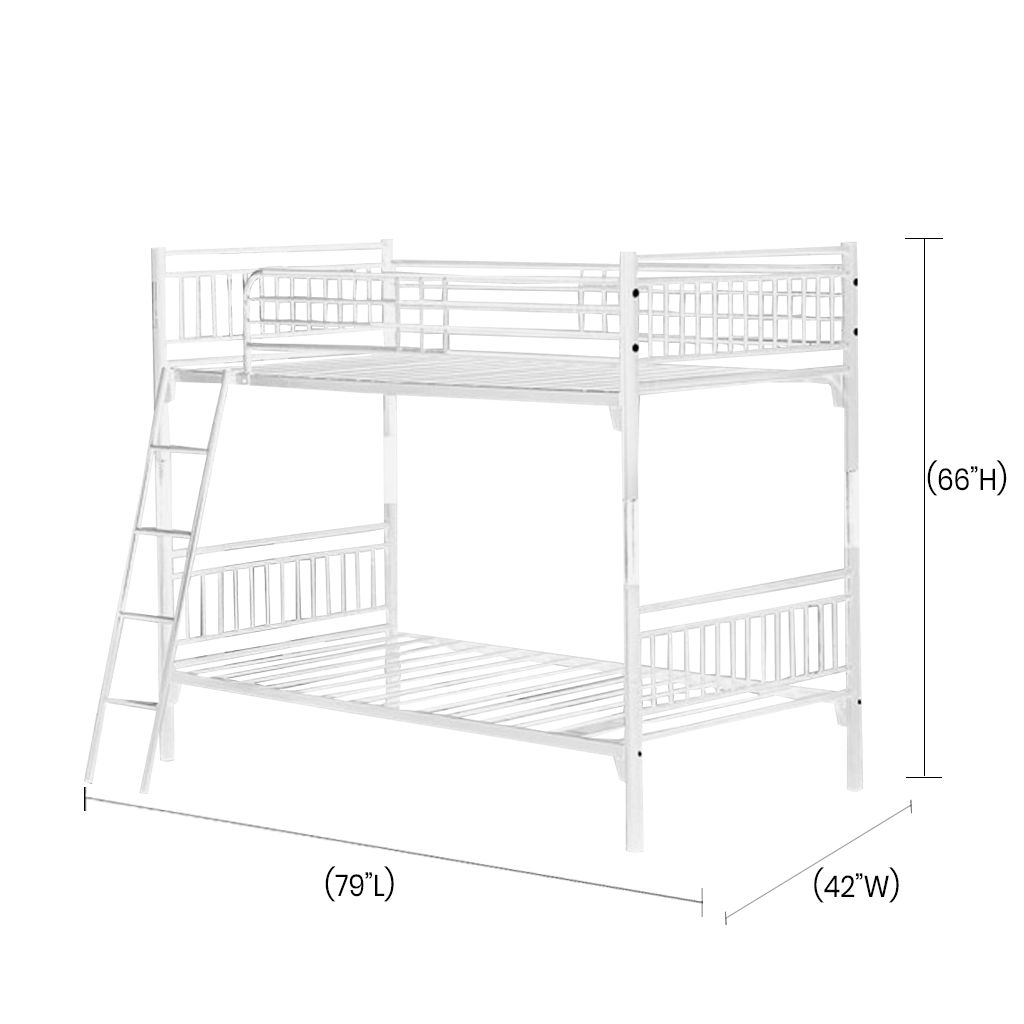 The Raven Single Bunk Bed Features A Metal Frame Safety Gates And