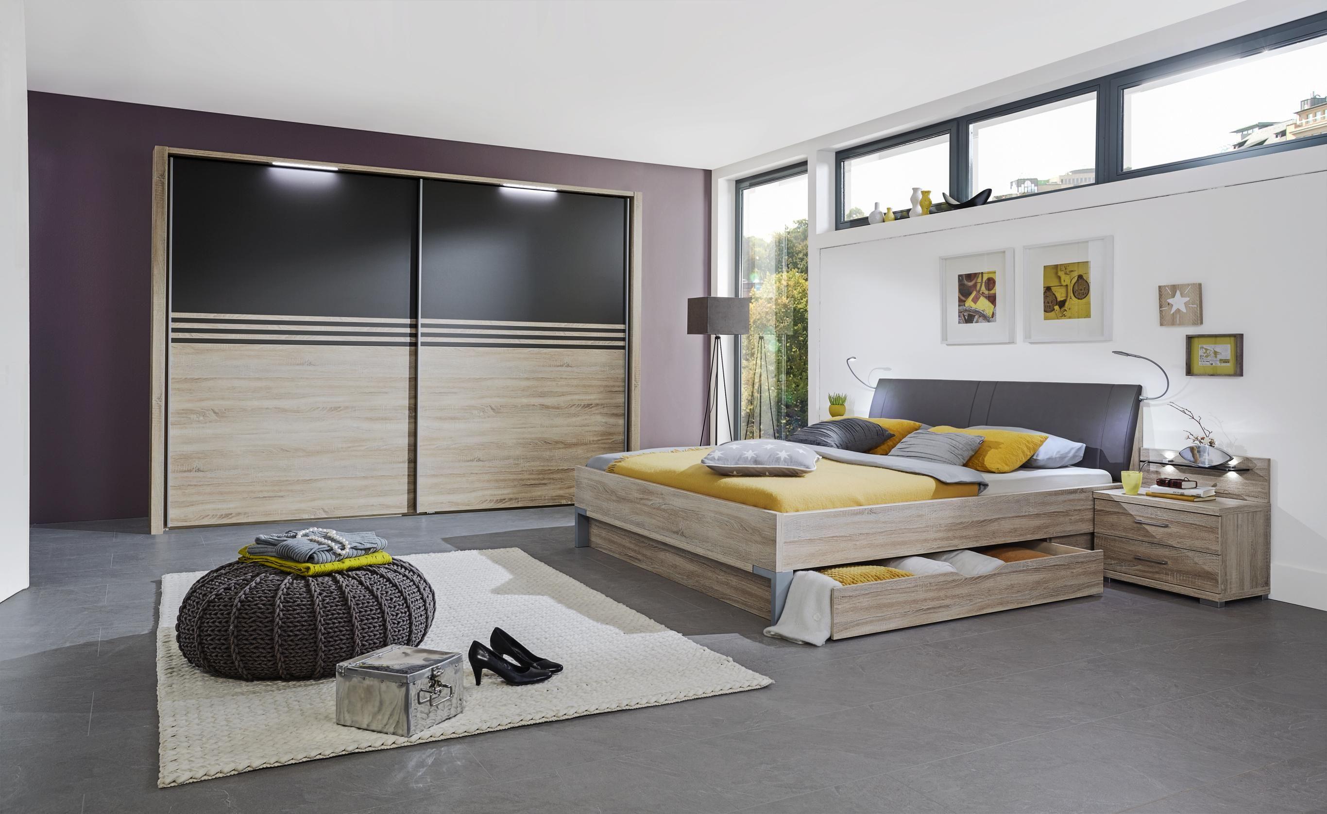 Eichefarbenes Schlafzimmer von VOLEO - komplett für Sie ...