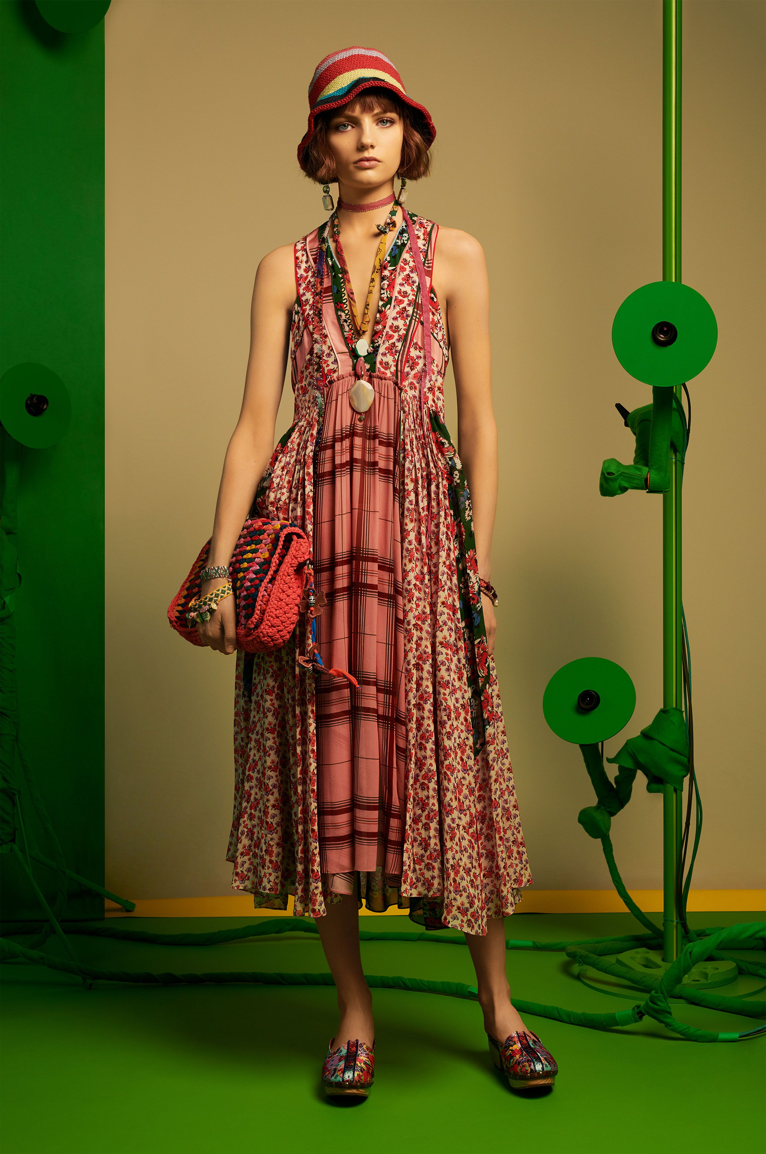 dac8ea22 Image 1 of DRESS WITH CONTRASTING PATCHWORK from Zara | my style ...