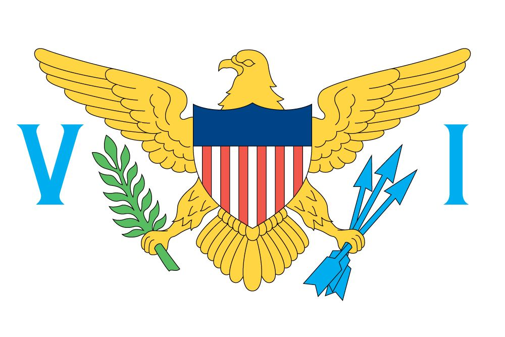 Virgin Islands Flag Flag Of The Virgin Islands Usa Virgin Islands Flag United States Virgin Islands Us Virgin Islands