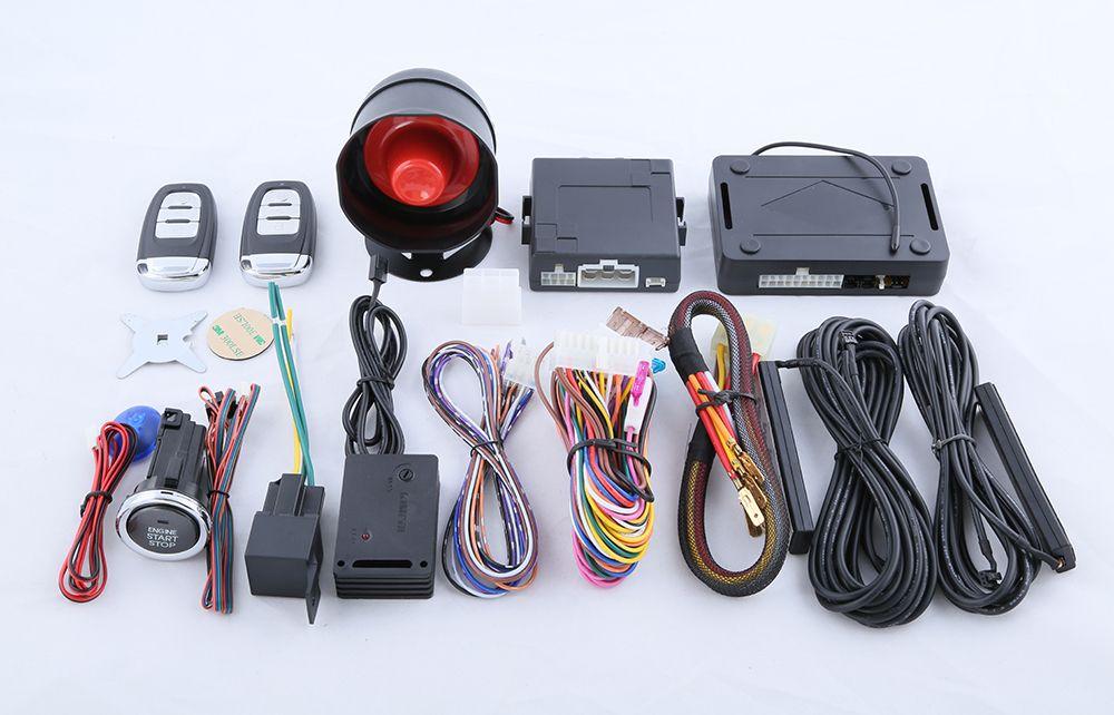 Dc12v Pke Car Alarm System Passive Keyless Entry Kit Push Button
