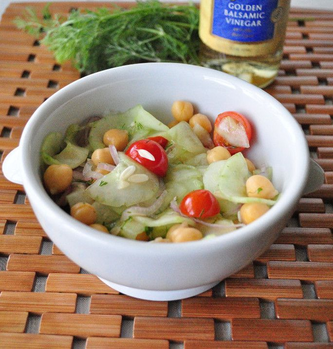 Cucumber Salad with Chickpeas - My Whole Food Life