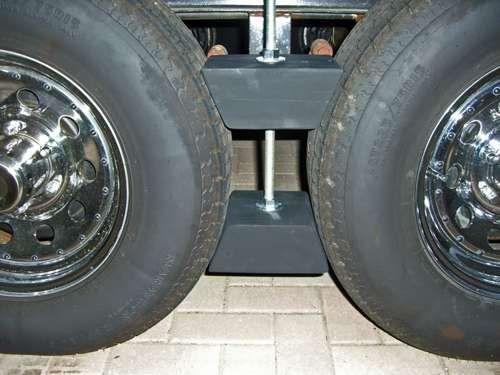 Camper Wheel Chocks >> Custom Made Rv Wheel Chocks For Tandem Wheels Rv Camping