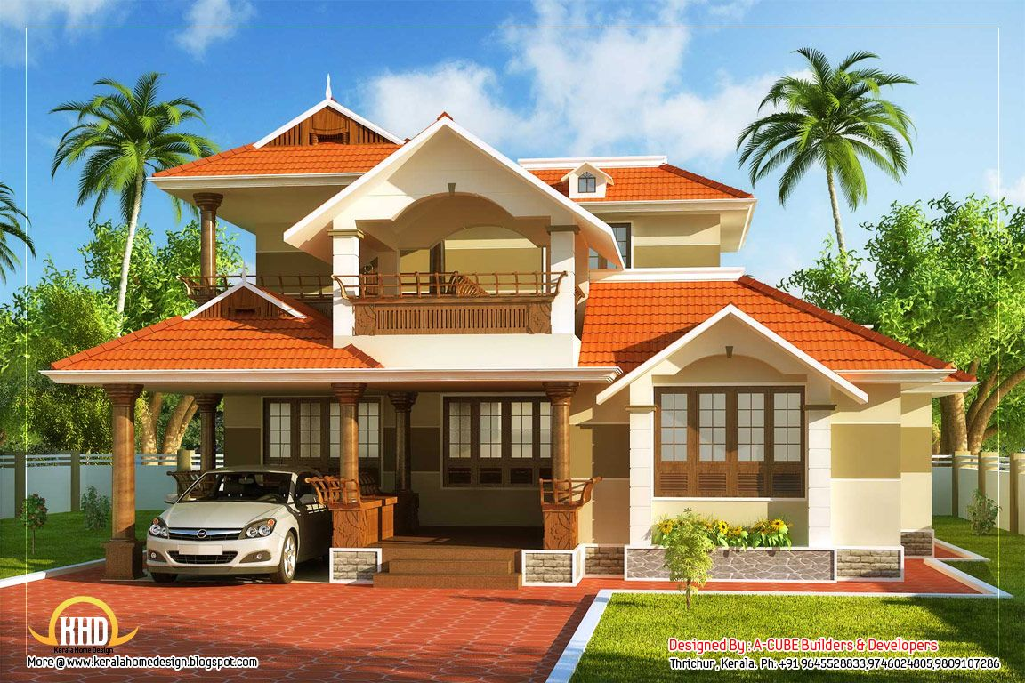 Kerala home design sq ft kerala home design floor plans for Home designs kerala style