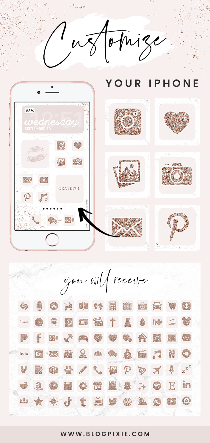 App Icons Rose Gold Glitter Pink Ios 14 App Covers Ios 14 Widgets Aesthetic Iphone Home Screen Ios14 Icon Pack Blog Pixie App Icon Rose Gold Iphone App Covers 5 best mobile apps for online shopping. app icons rose gold glitter pink ios