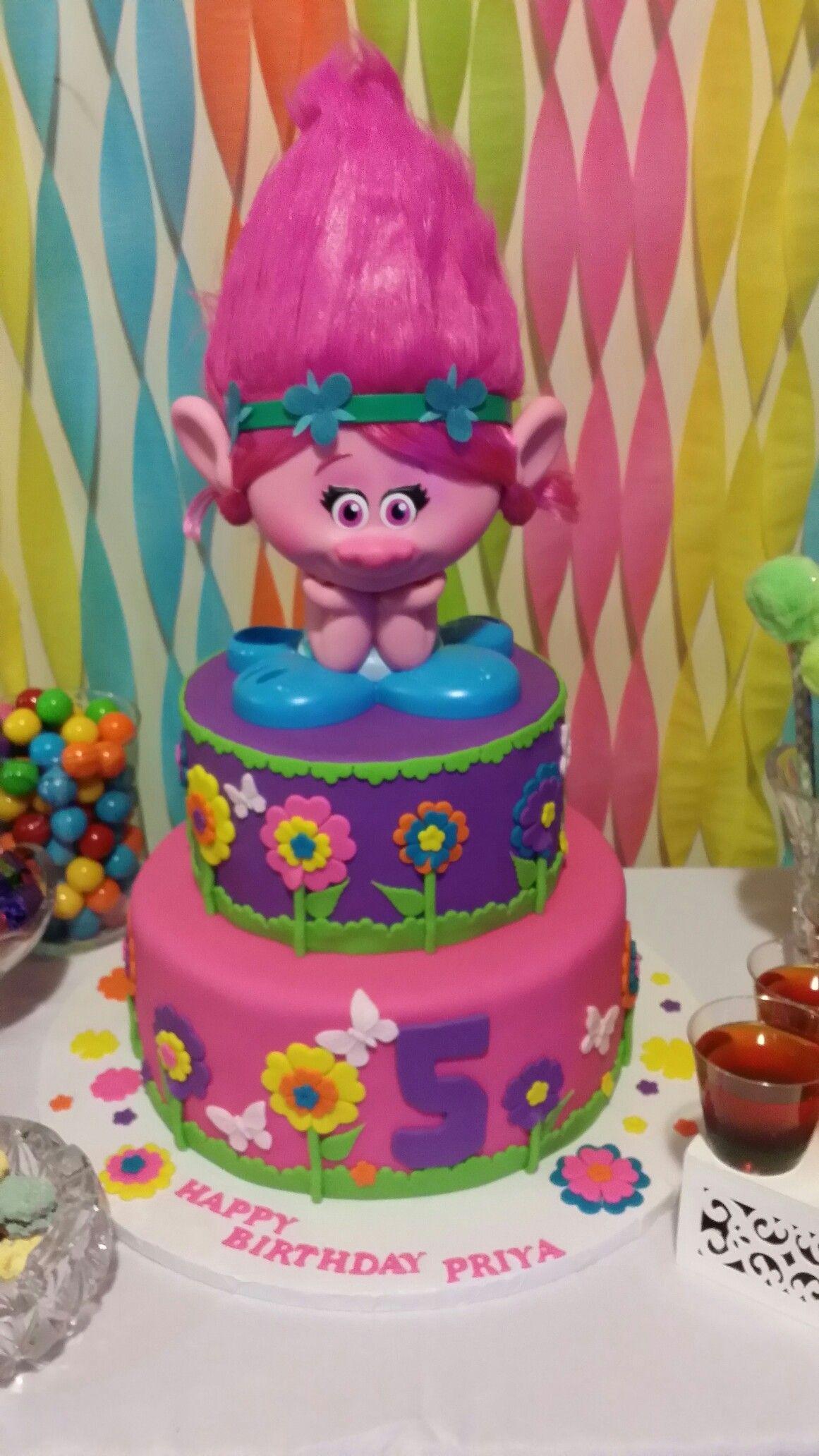 Cake trolls trolls birthday party cake trolls
