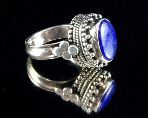 Moroccan Jewelry  Lapis Ring  Ancient by ByDivineCollectibles, $78.00