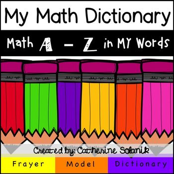 My math dictionary a z frayer model students create their own free my math dictionary a z pages and frayer model template malvernweather Image collections