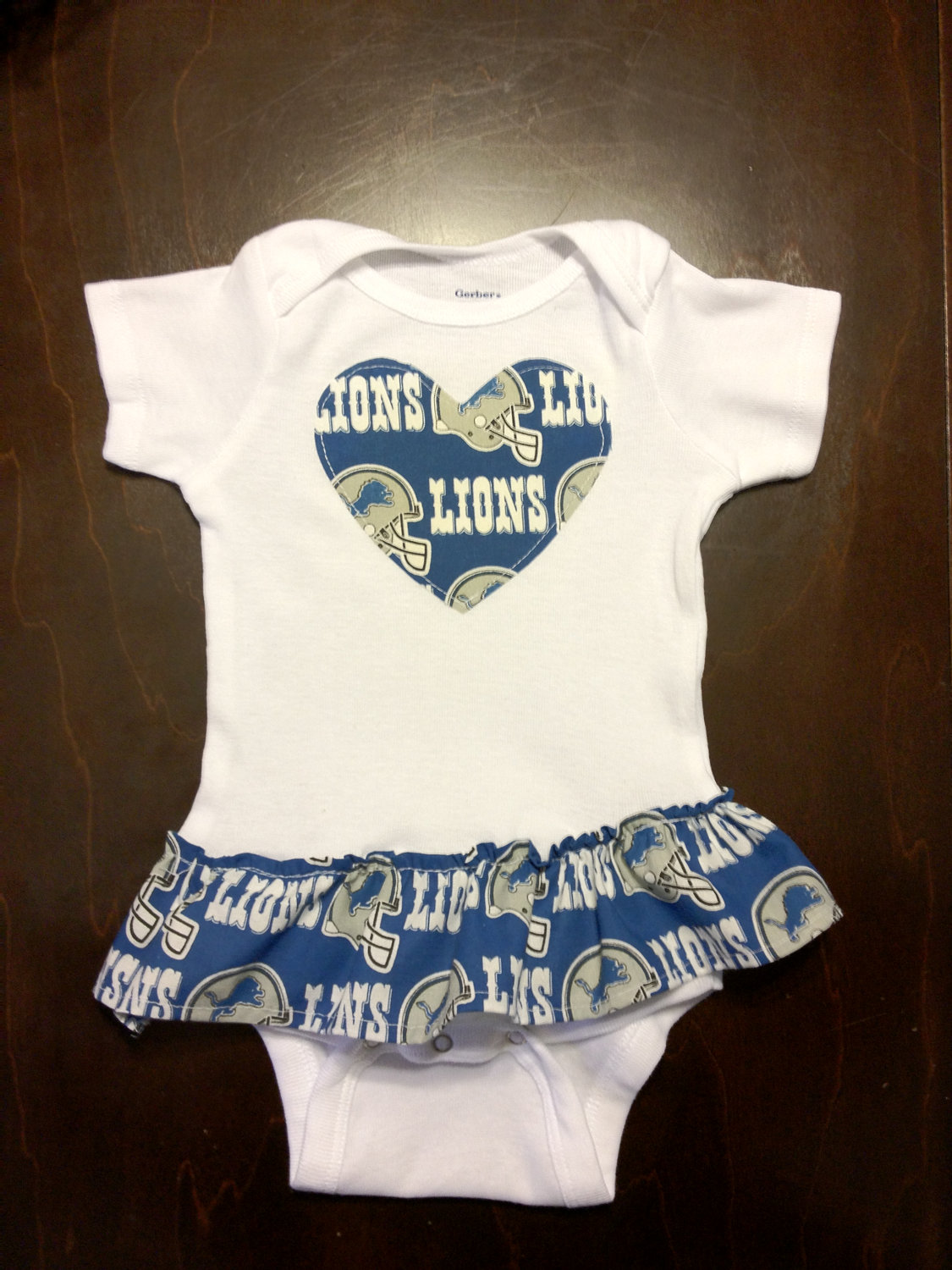 Becky Buth Detroit Lions Girls Onesie Football Baby