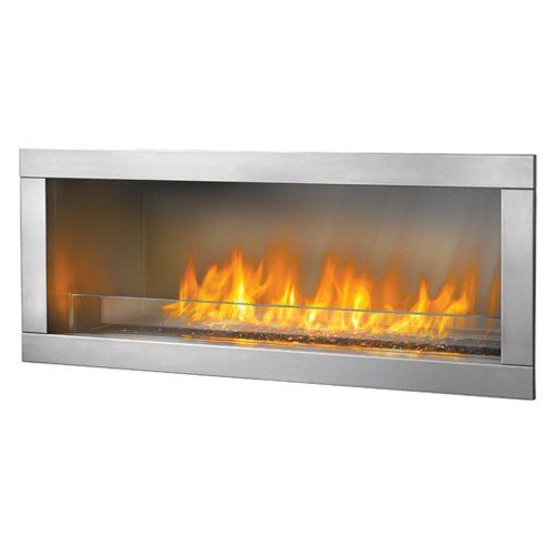 Napoleon Single Sided Linear Outdoor Gas Fireplace Insert | www.hayneedle.com