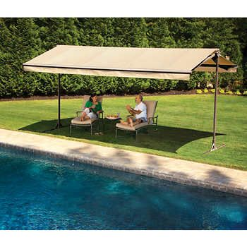The Sunsetter Oasis Freestanding Awning Motorized And Manually
