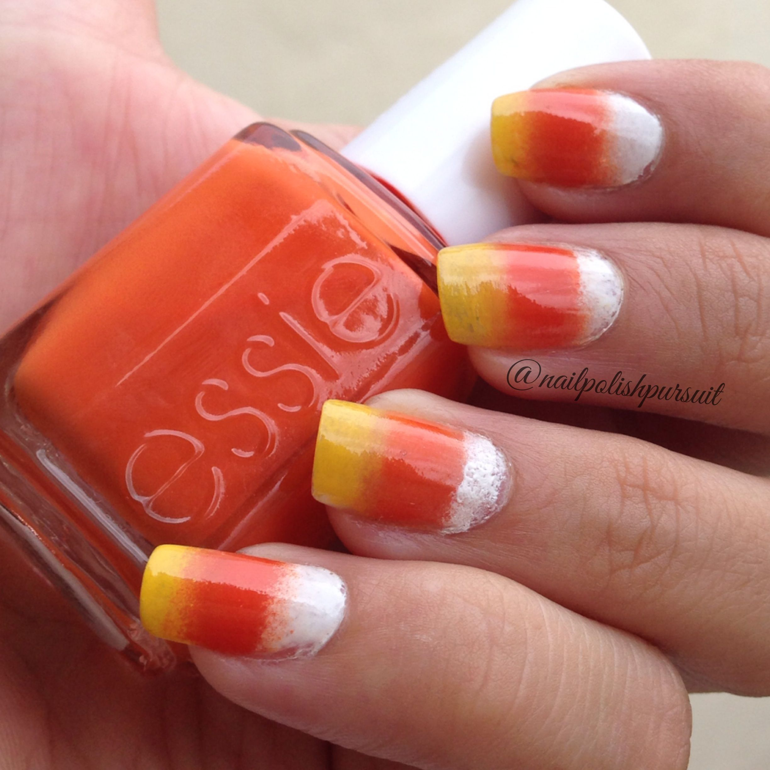 Candy Corn Nails | Nail polish, Cute nail designs, Candy ...