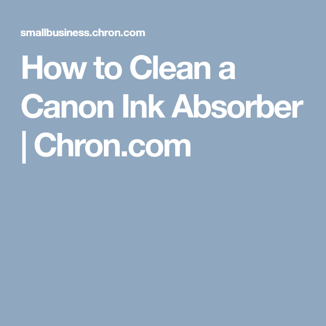 How to Clean a Canon Ink Absorber | Canon Printer stuff