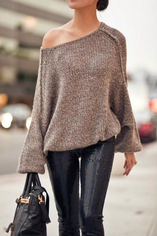 4726ba989c6 Oversized Off Shoulder Sweater
