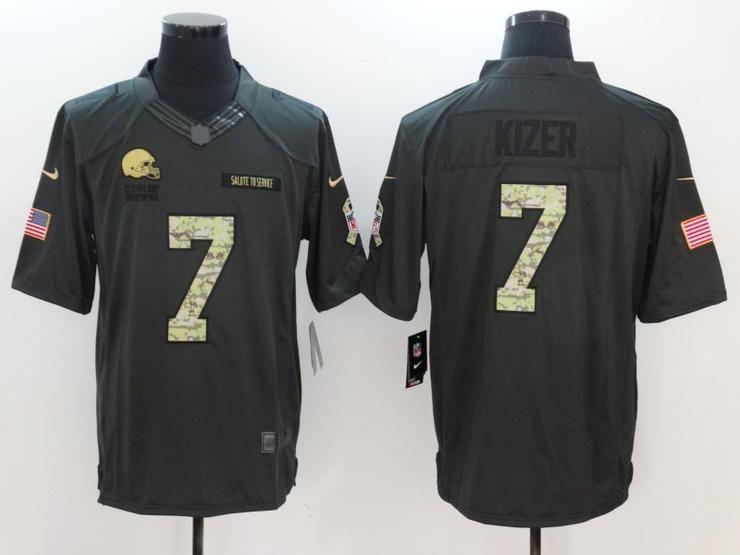 534934127 Men 7 Kizer Jersey Football Cleveland Browns Jersey