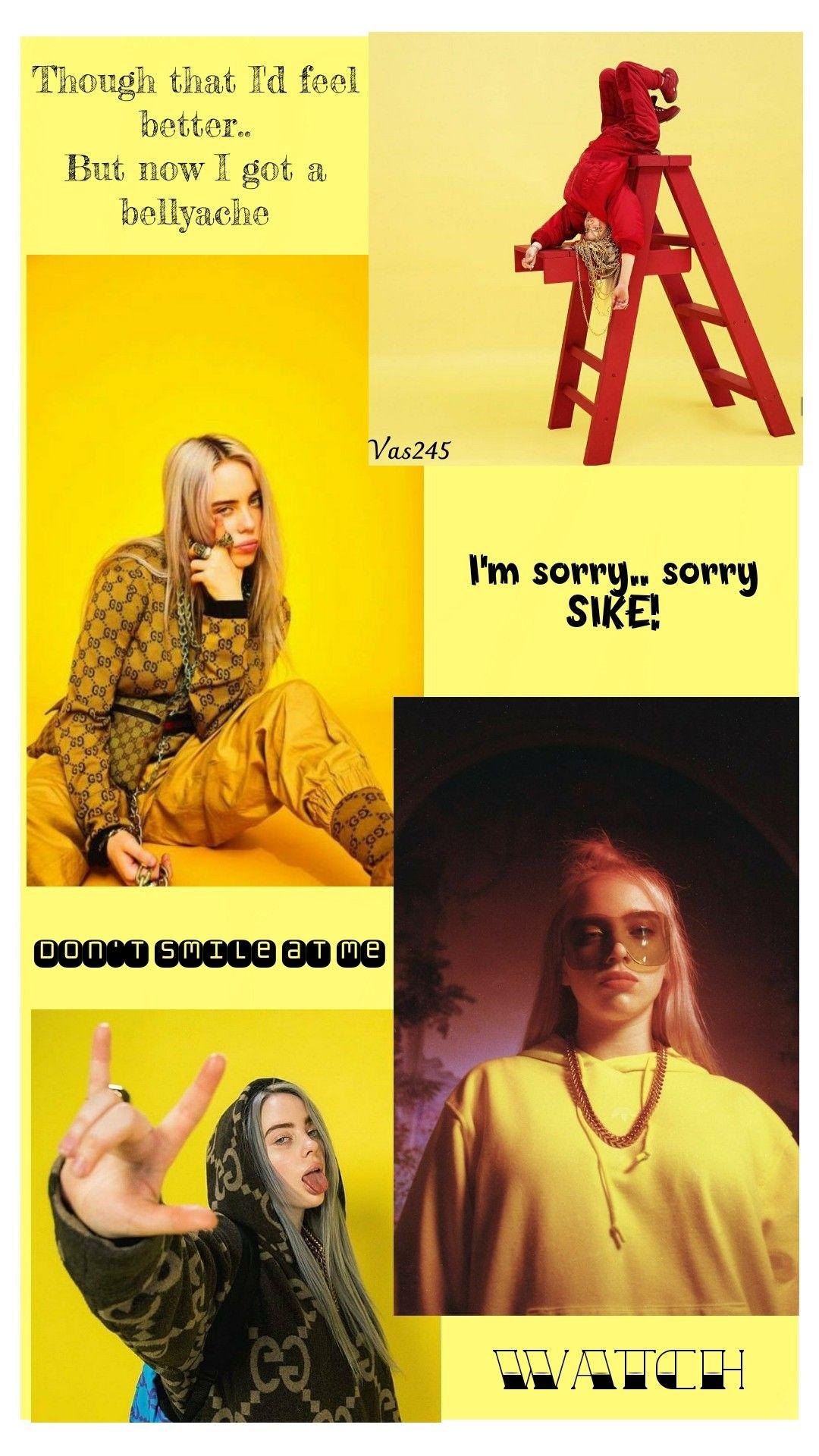 Billie Eilish Wallpaper In 2020 Billie Eilish Billie Yellow Aesthetic