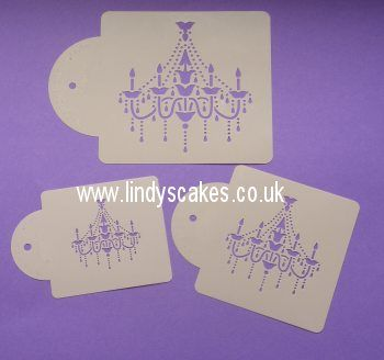 Shop at lindys cakes sugarcraft and cake decorating supplies chandelier set stencil c474 available from lindys cakes mozeypictures Images
