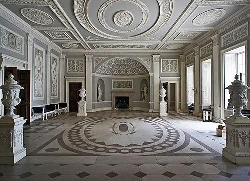 Entrance Hall in Osterley House, Hounslow, London - www.castlesandmanorhouses.com