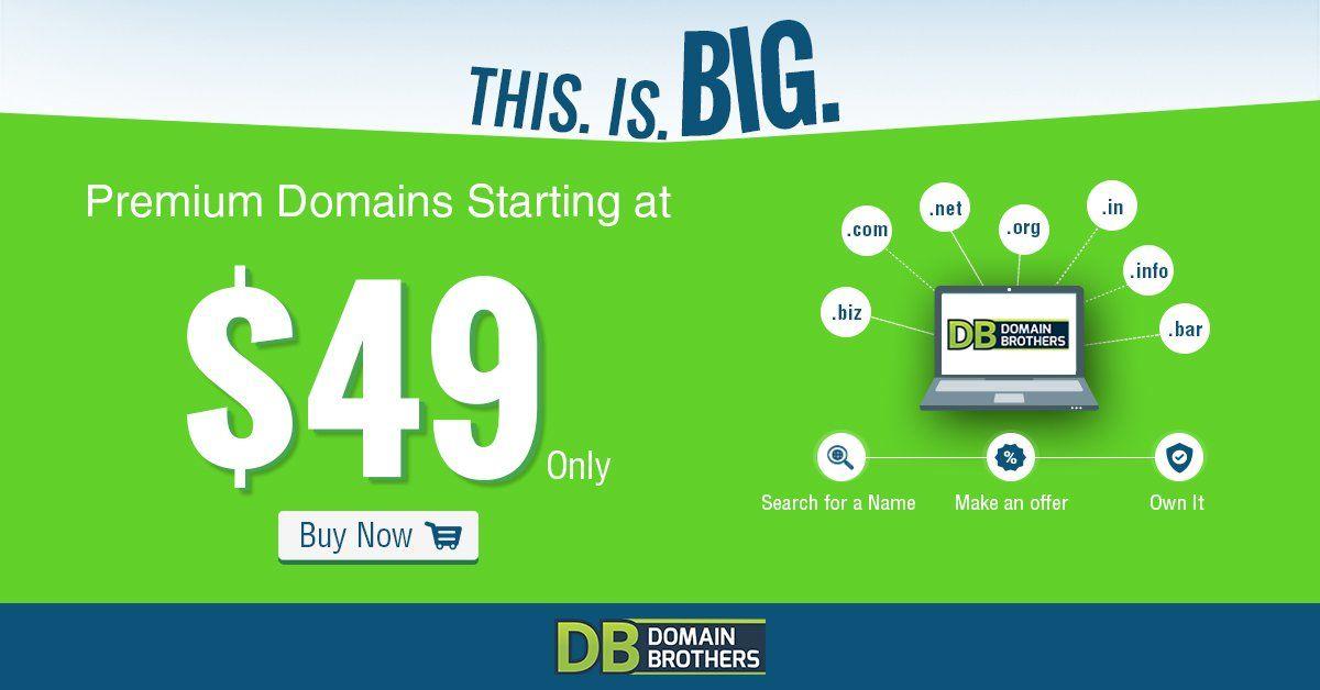 Hot Deal Premium Domain Names Starting At 49 Domain Deal Premium