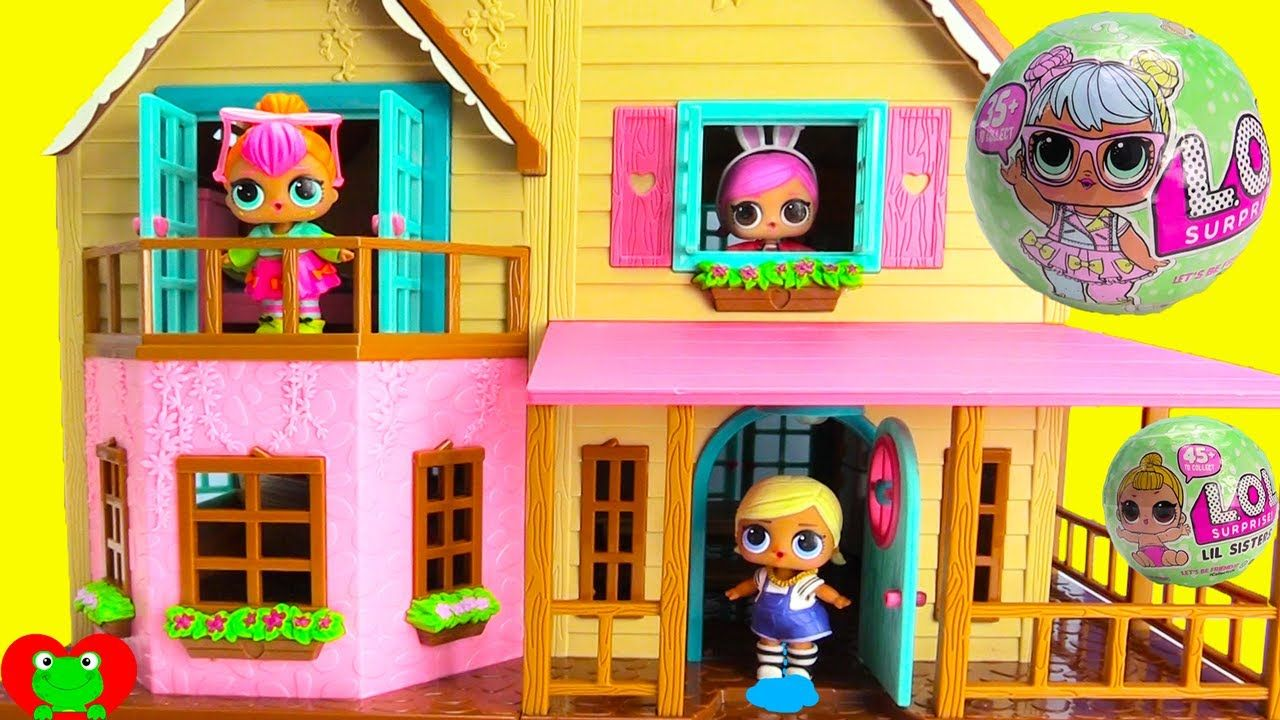 Lol Surprise Dolls Move Into New Doll House Surprise Toys