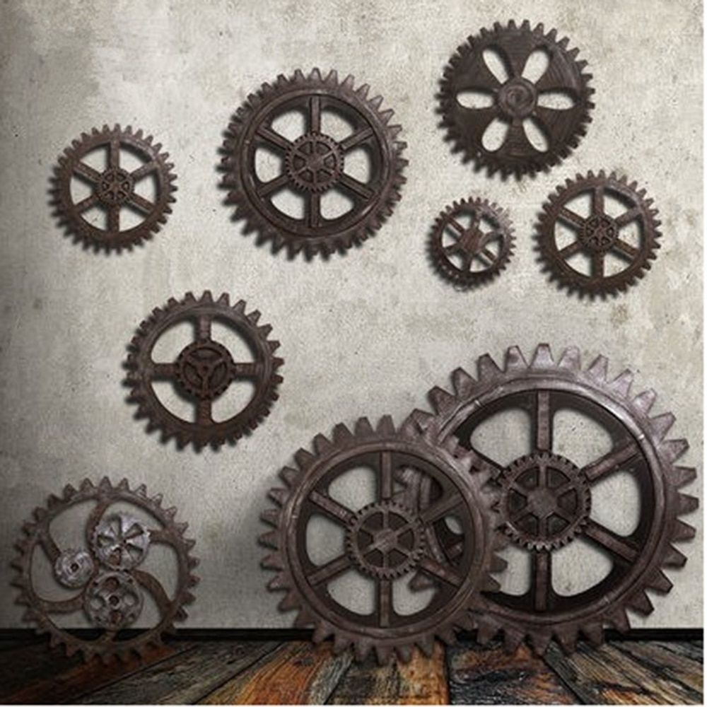 Cheap Figurines Miniatures Buy Directly From China Suppliers European Style Wooden Gear Wall Vintage Industrial Decor Industrial Style Decor Home Wall Decor