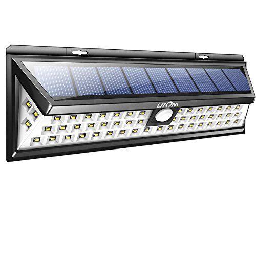 Litom 54 Led Lampe Solaire A Detecteur De Mouvement Eclairage De