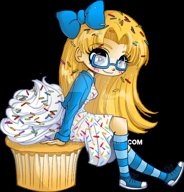 Very Vanilla Cupcake Girl by YamPuff on DeviantArt