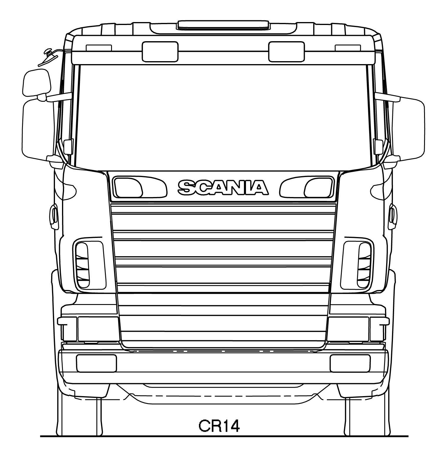 Scania R Series blueprint | рісунок | Pinterest | Lkw und Modell
