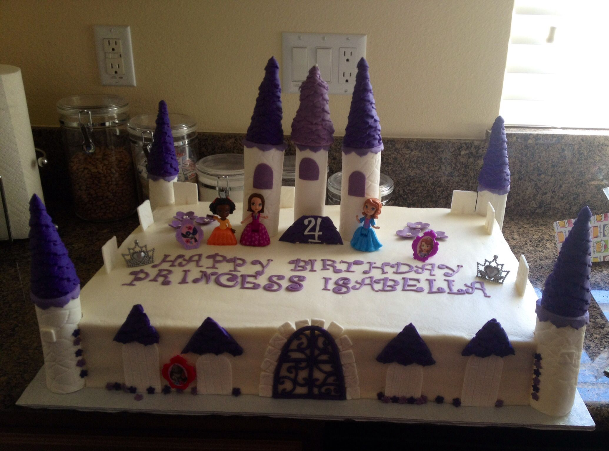 Sofia The First Castle Birthday Cake Edible Towers Made From