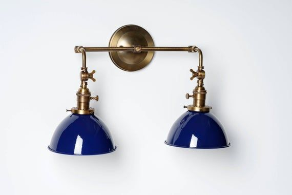 Photo of Kitchen Light Bathroom Fixture Wall Sconce with Metal dome Shade and Adjustable Arms