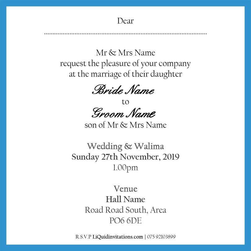 Muslim Wedding Cards Muslim Wedding Invitations Wedding Invitation Samples