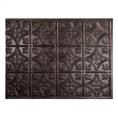 Traditional 1 PVC Decorative Backsplash Panel In Smoked